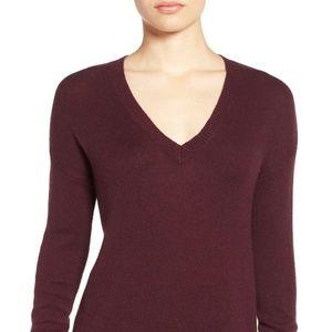 Halogen Burgundy V-Neck Sweater - Size small